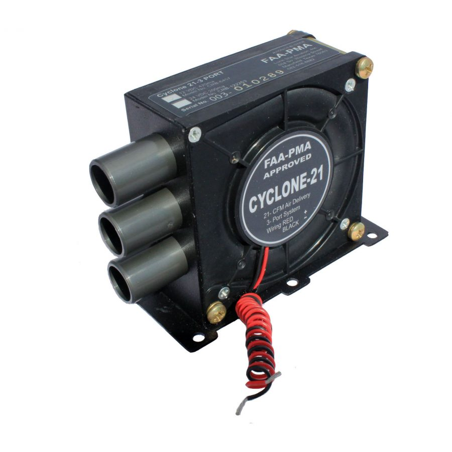 FAA-PMA Cyclone 21 3 Port Blower 28vdc                                                                                                    CRB-122253